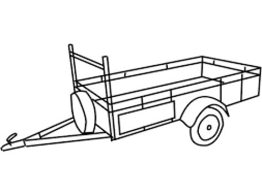 Kipper aanhangwagen 3 zijde 3,5T