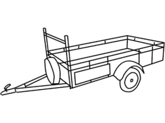 Plateau aanhangwagen 3,5T
